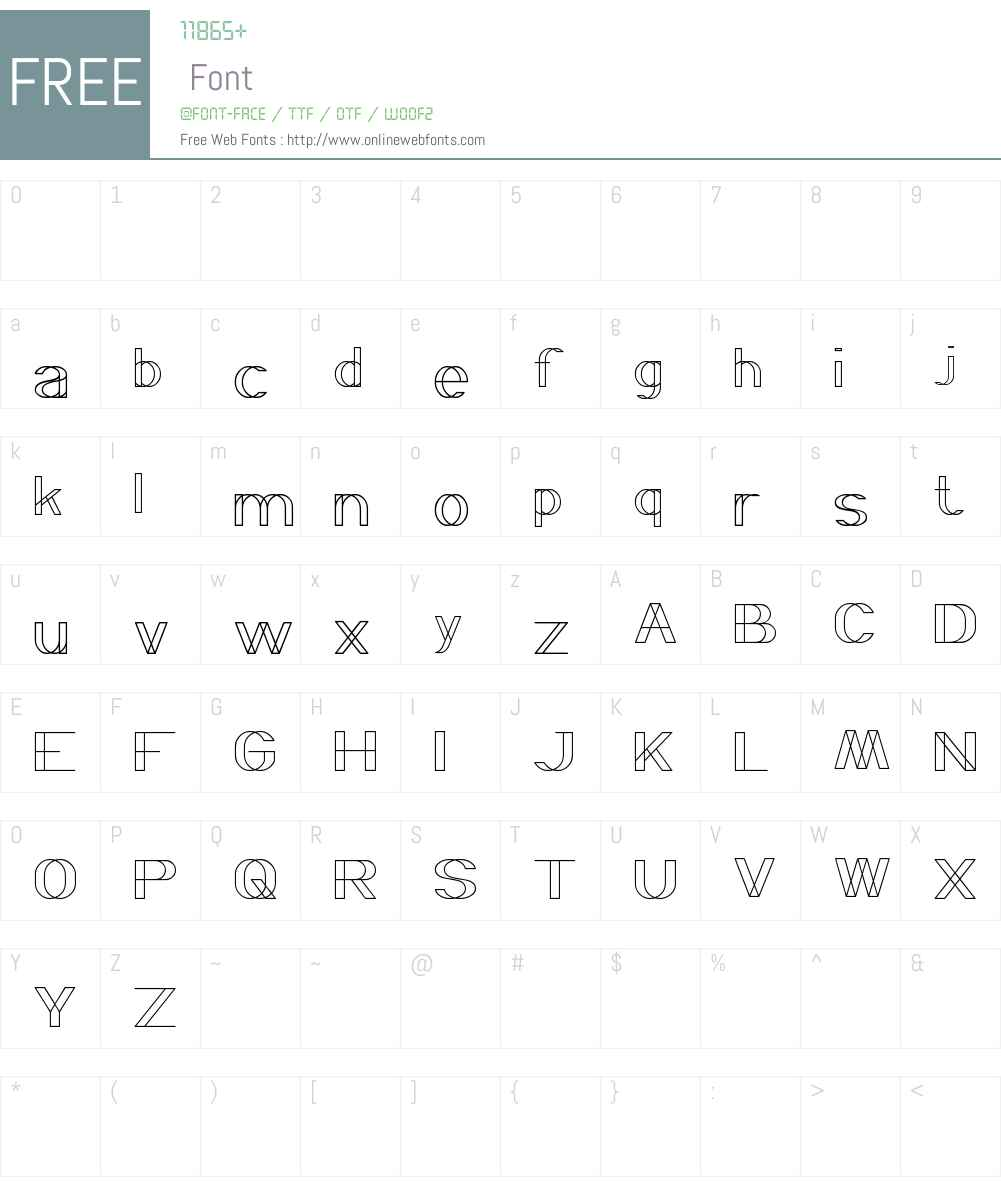 WIREFRAME Font Screenshots