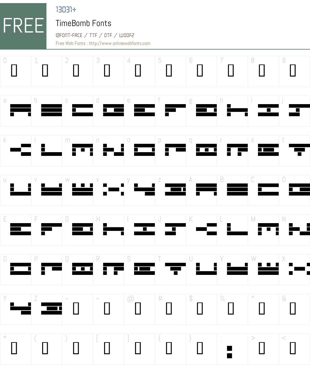 TimeBomb Font Screenshots