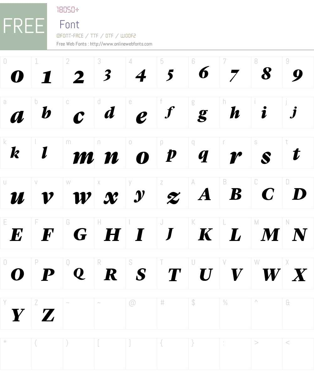 Lyon Display Web Black Font Screenshots