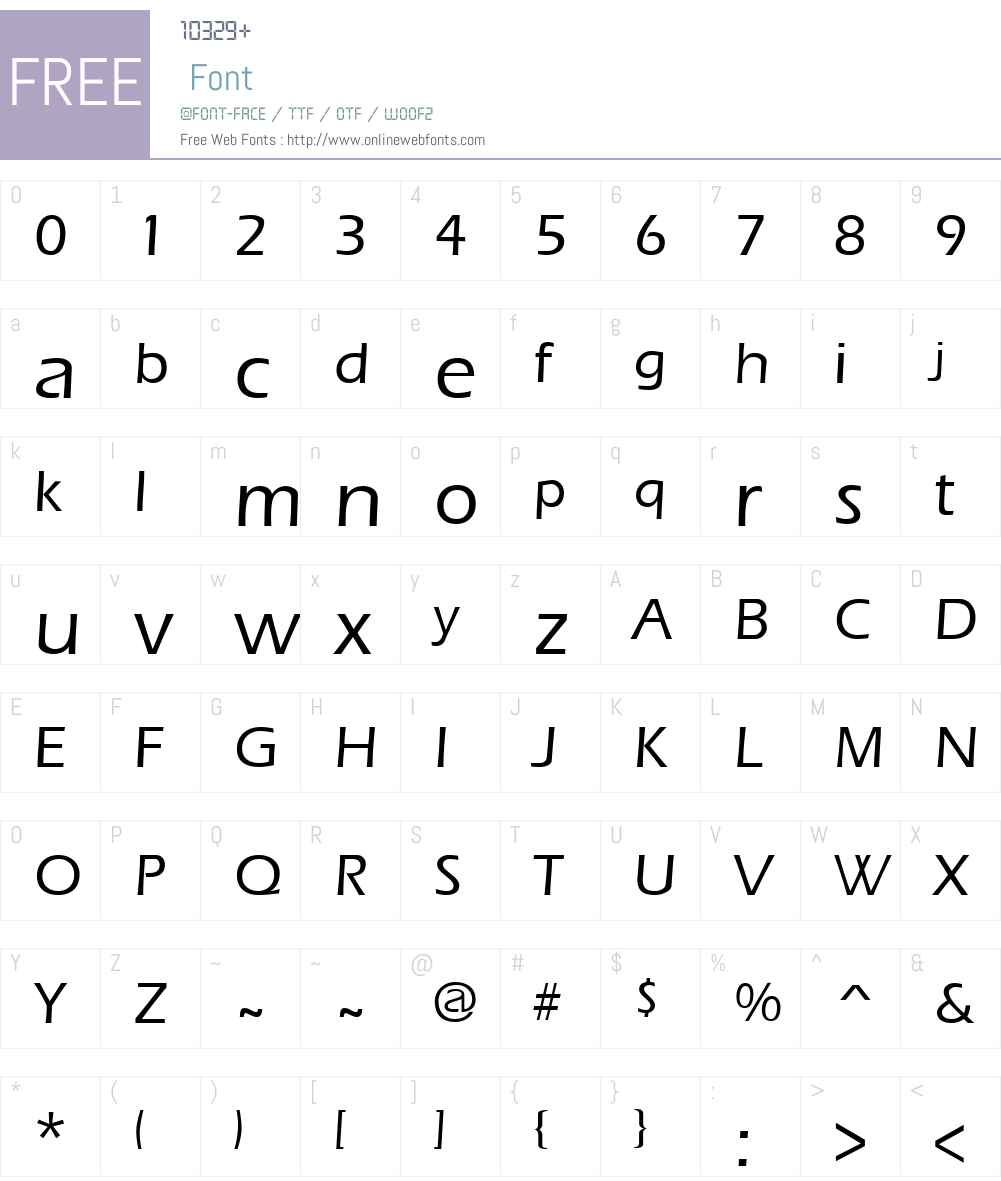 ErgoeMild Font Screenshots