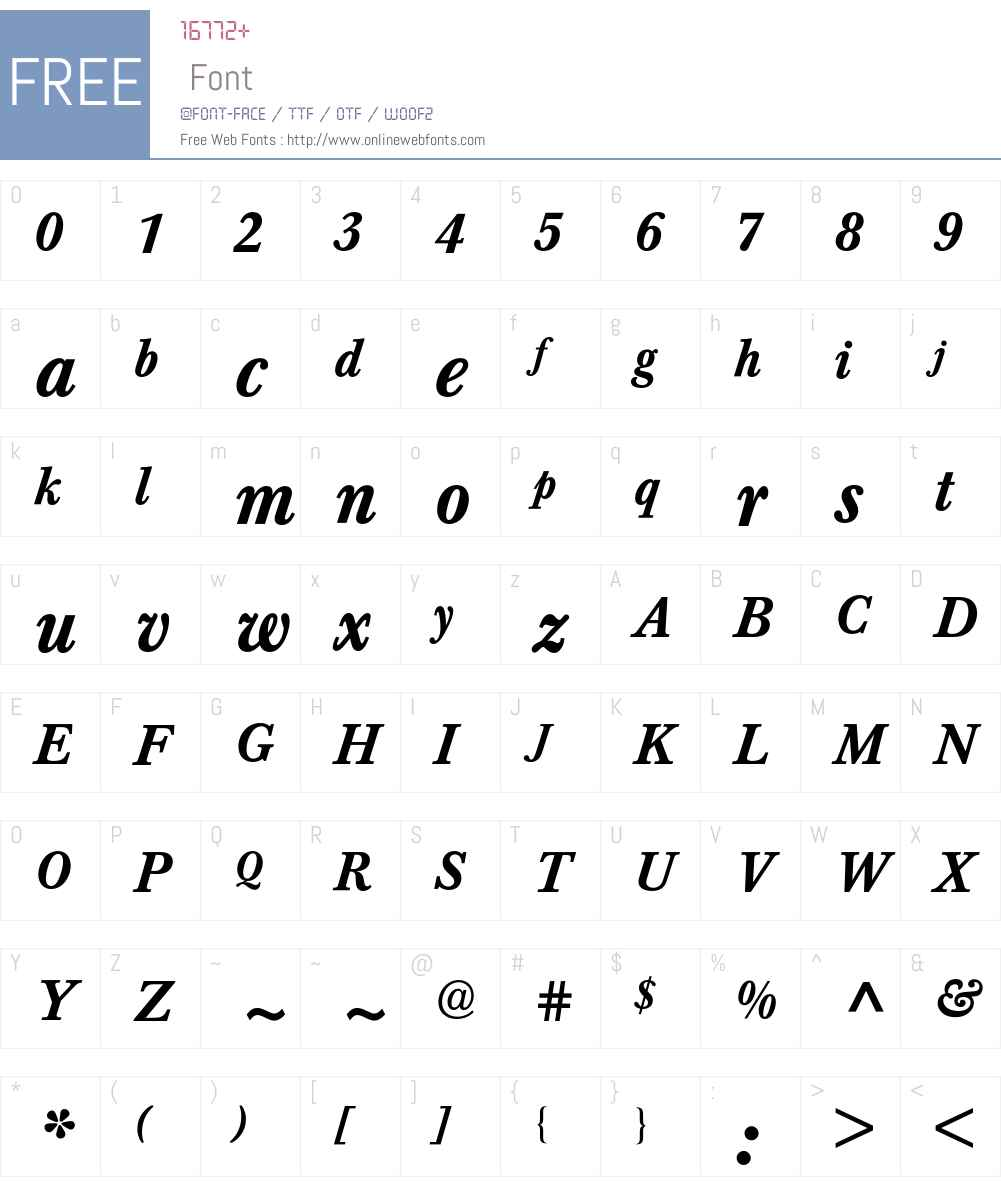 Baskerville BQ Font Screenshots