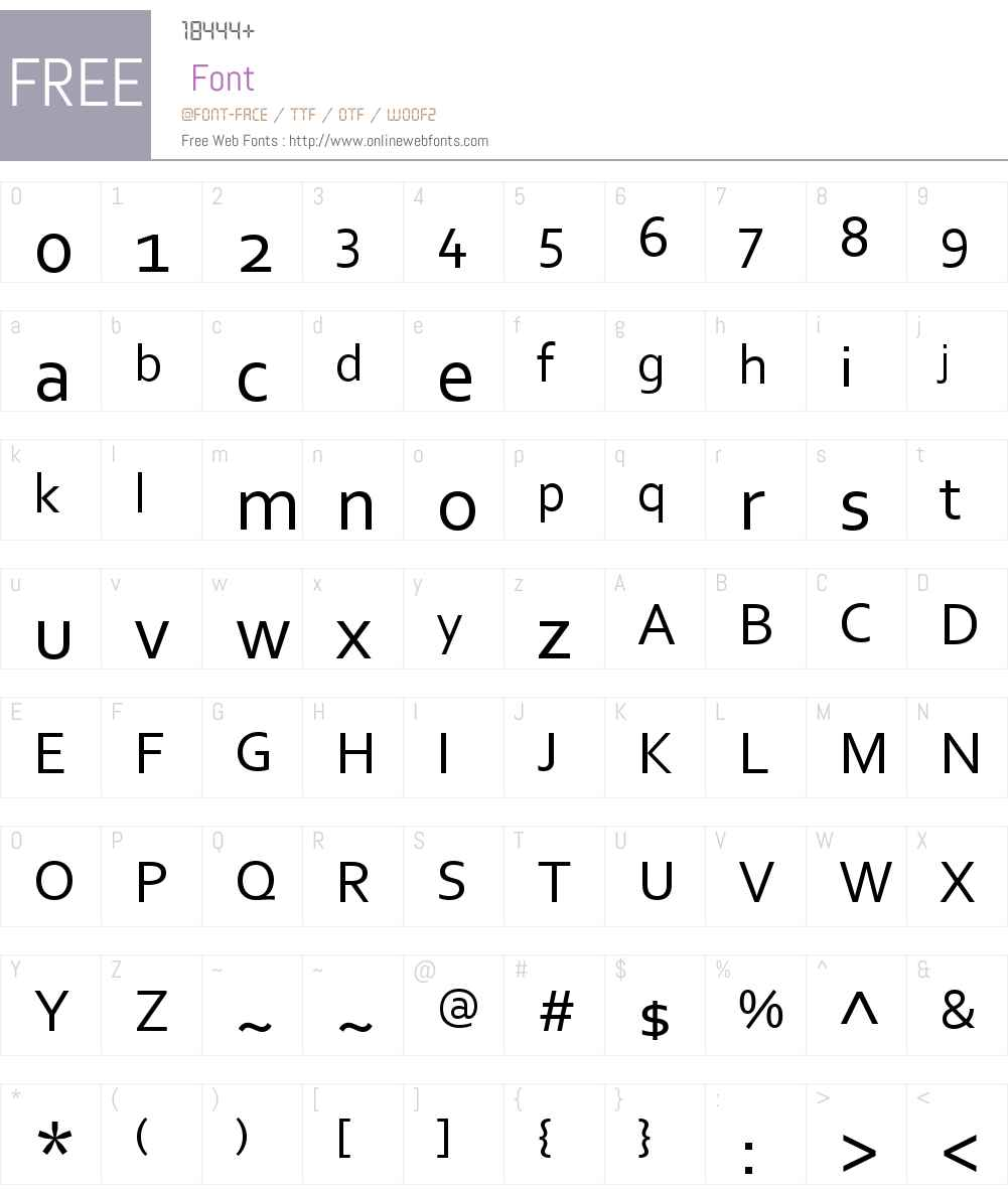 Corbel Font Screenshots