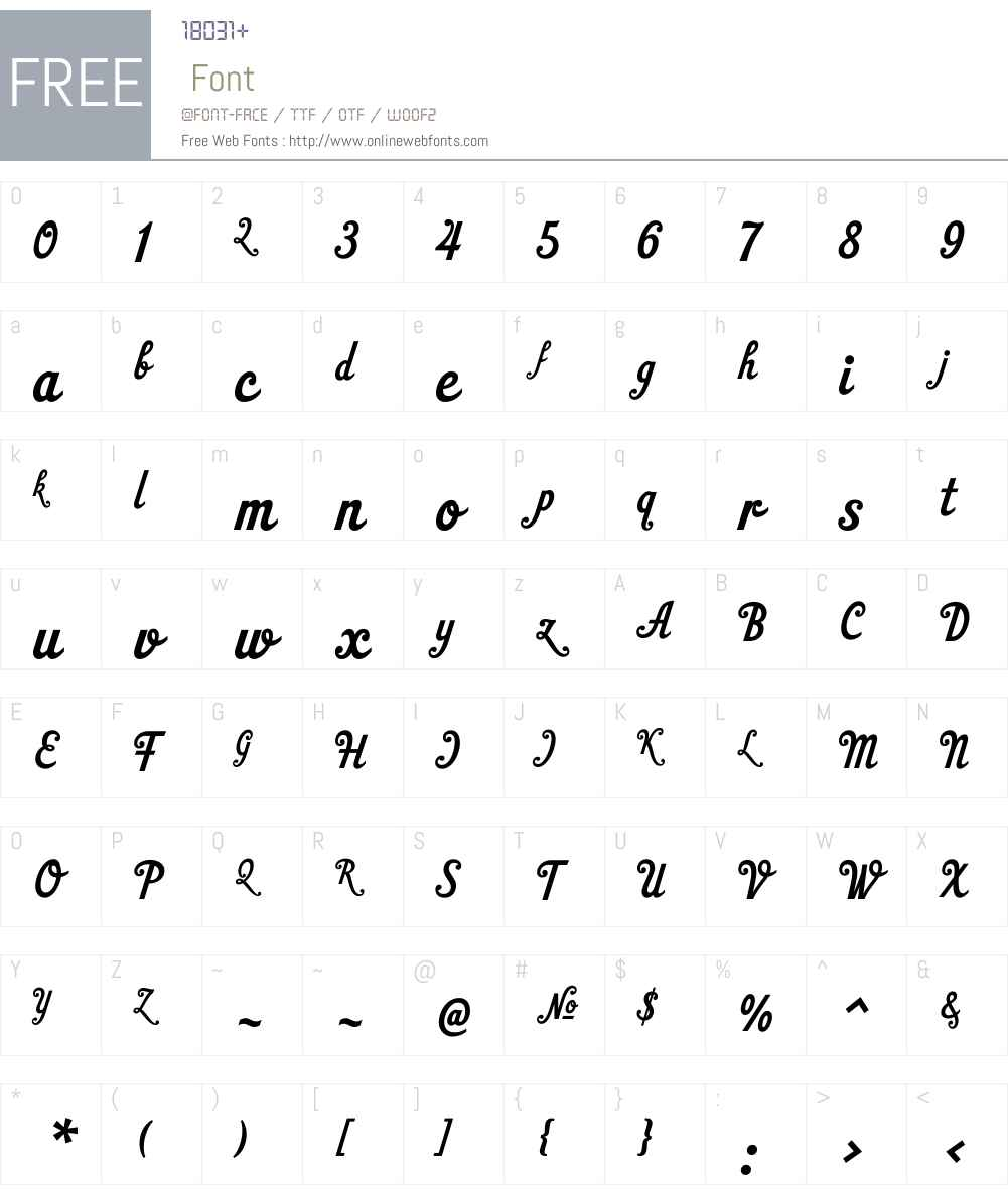 HTGelateriaW01-Regular Font Screenshots