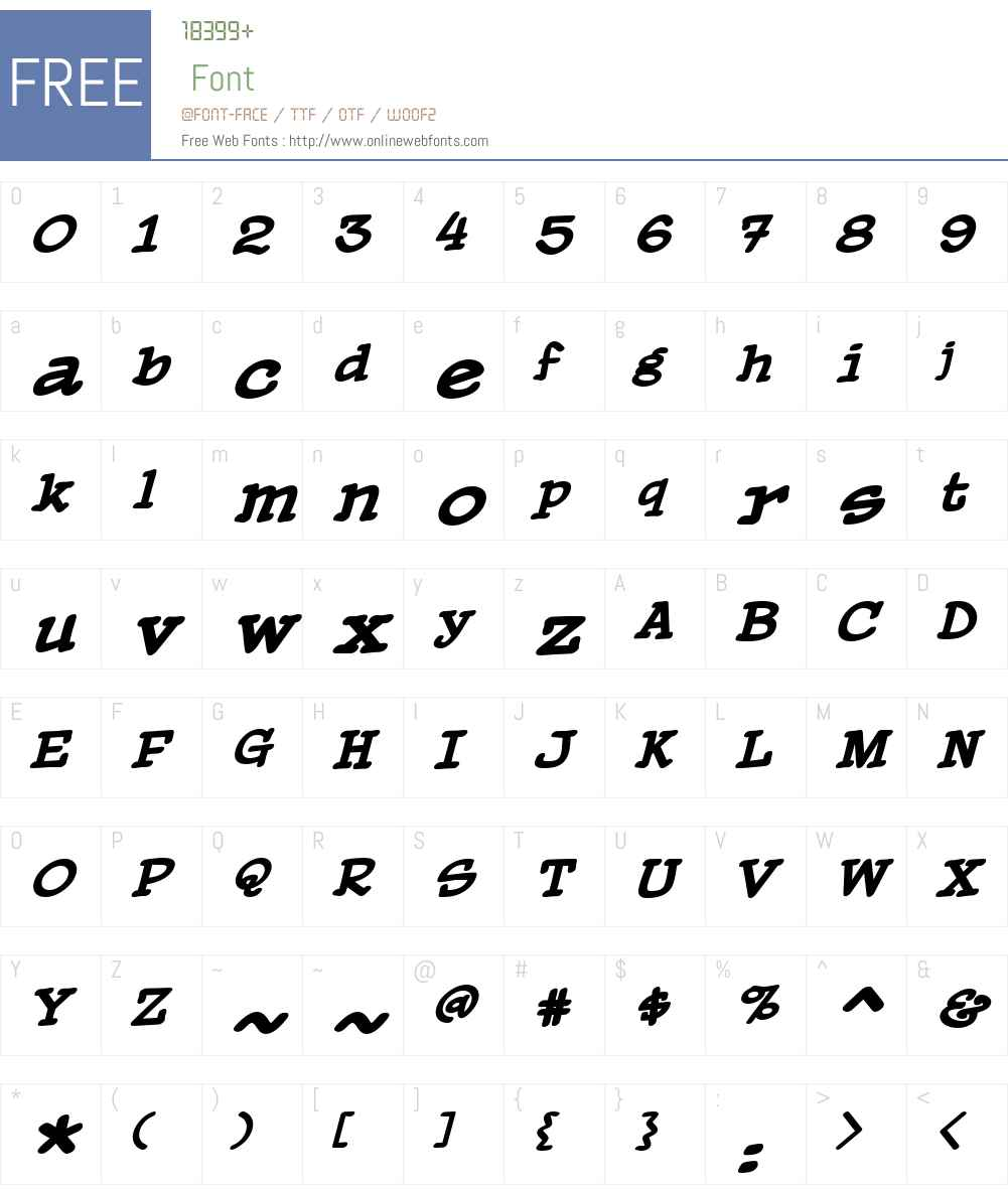 PaperBoyBBBoldItalic Font Screenshots