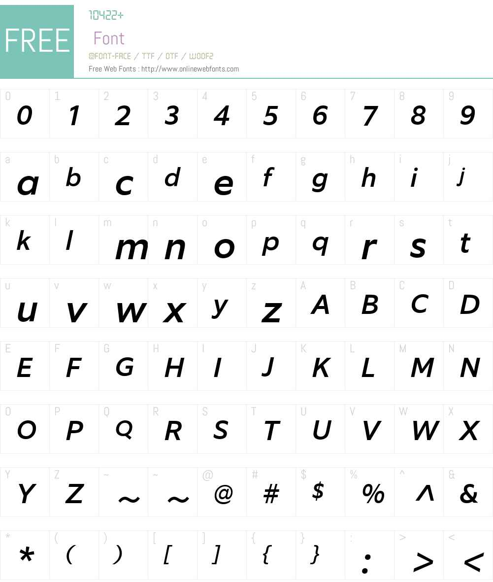 EquipW03-MediumItalic Font Screenshots