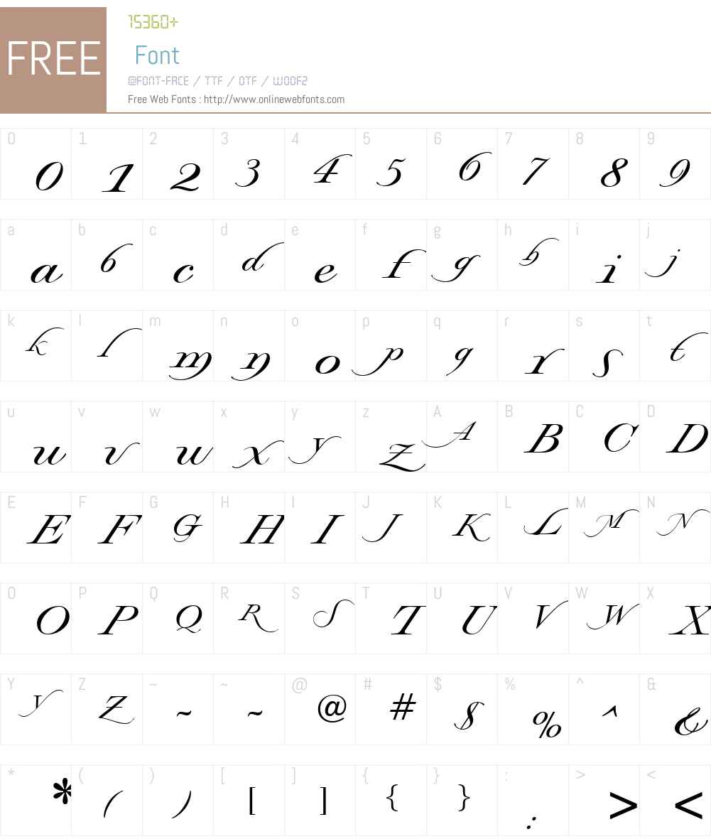 Stockwell DB Font Screenshots
