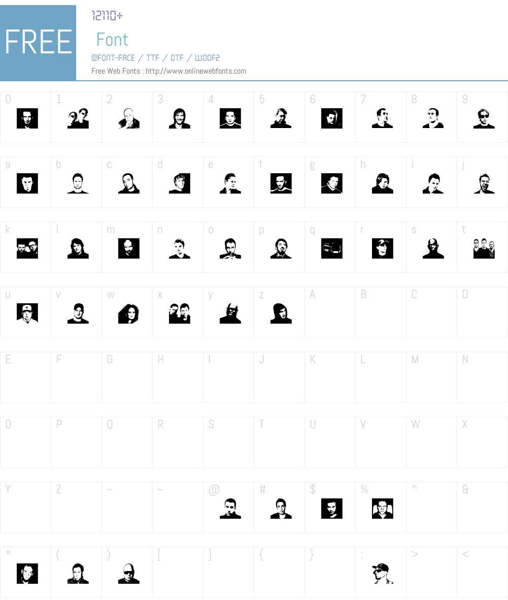 Djs symbols Font Screenshots