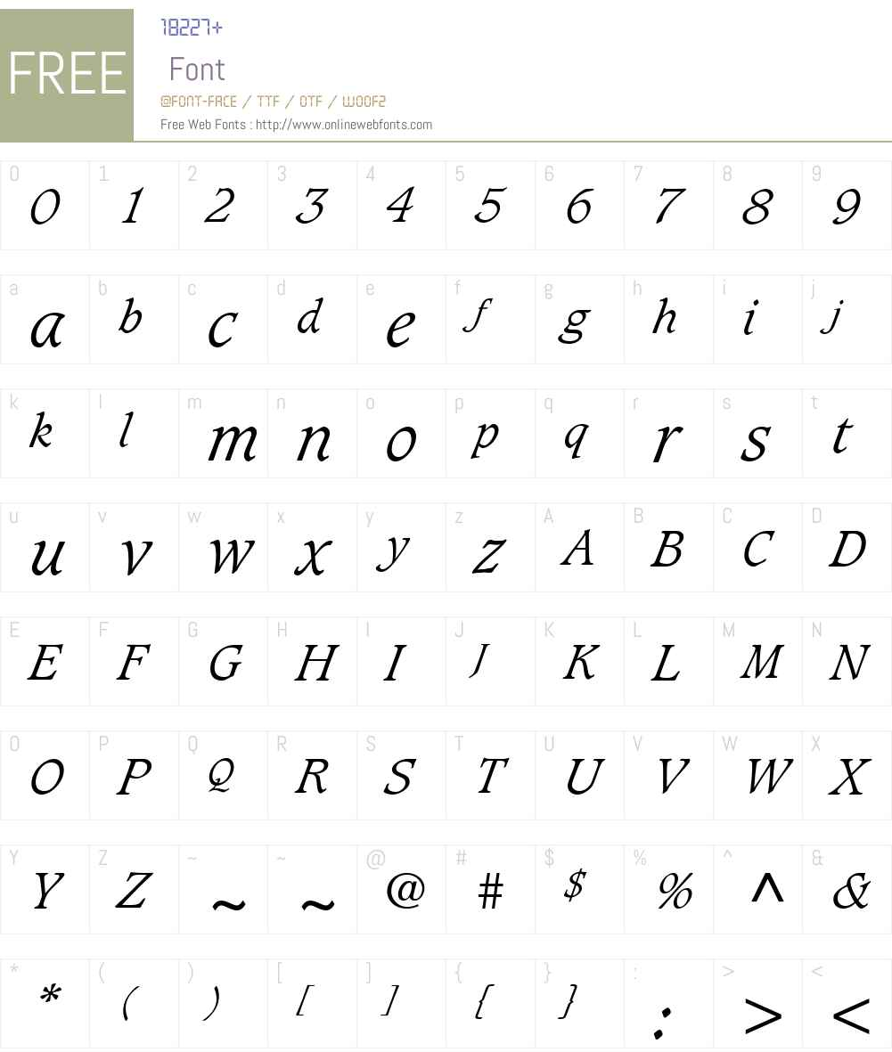 Grammateus Light SSi Font Screenshots
