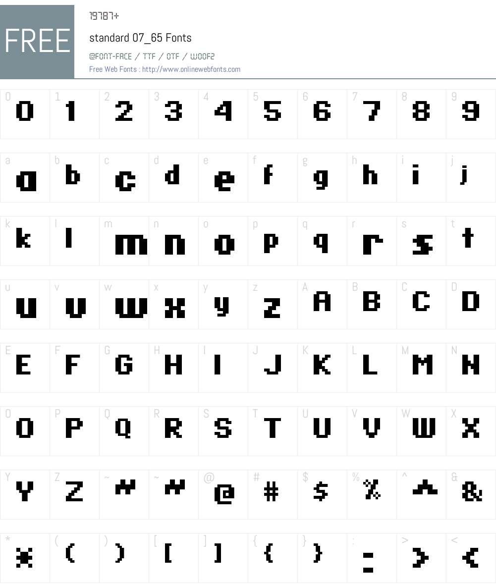 standard 07_65 Font Screenshots