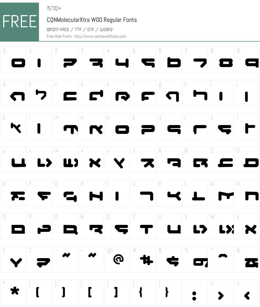 CQN-Molecular Font Screenshots