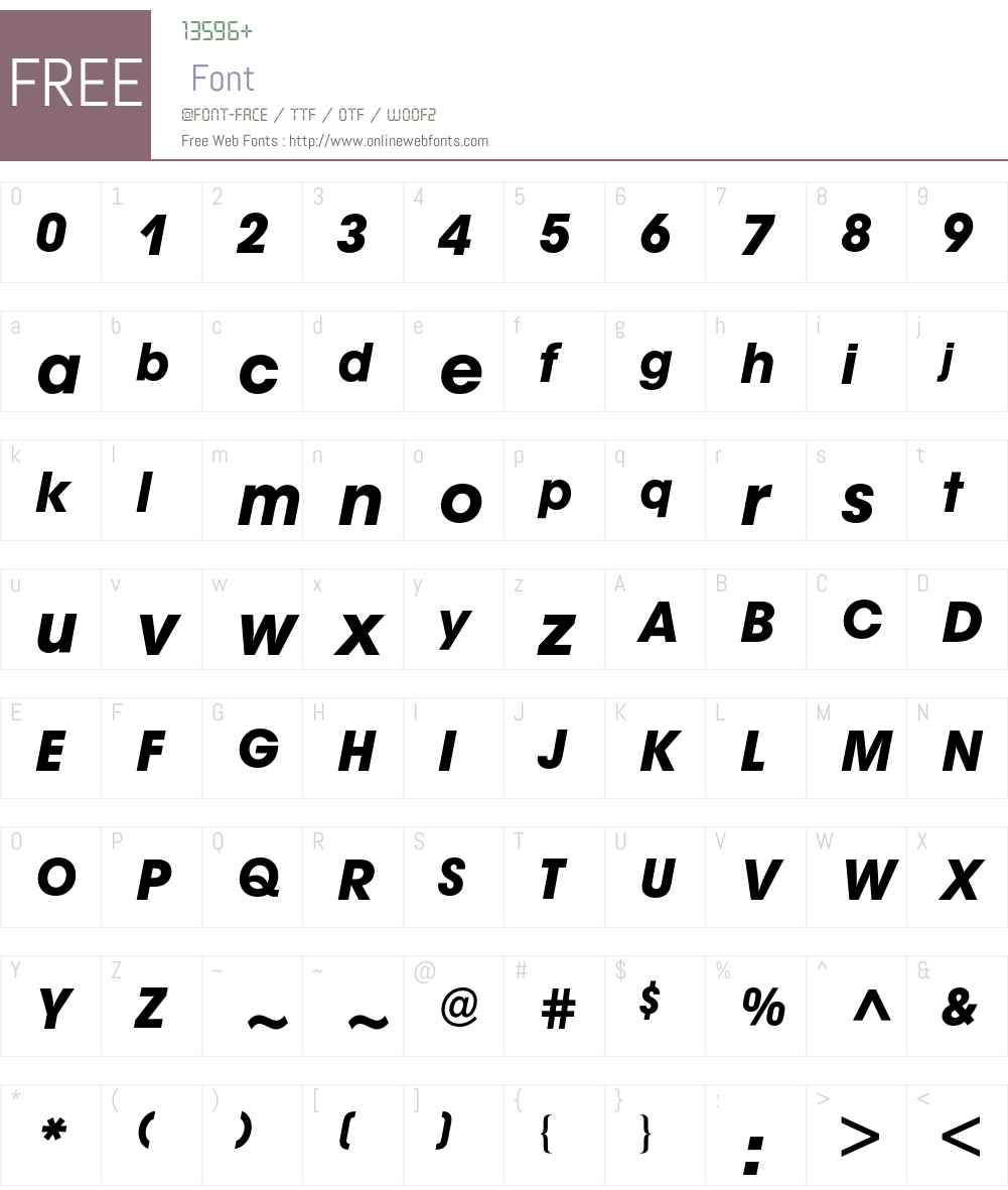Avant Garde BQ Font Screenshots