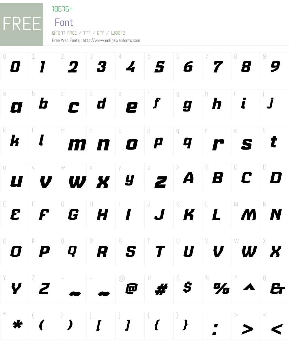 Cohort Heavy Italic Font Screenshots