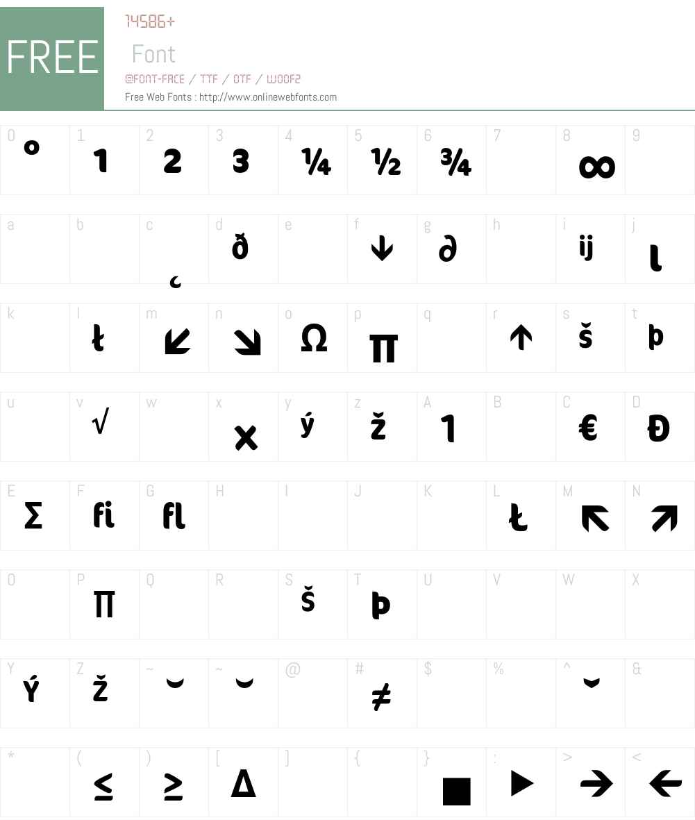 Cocon Font Screenshots