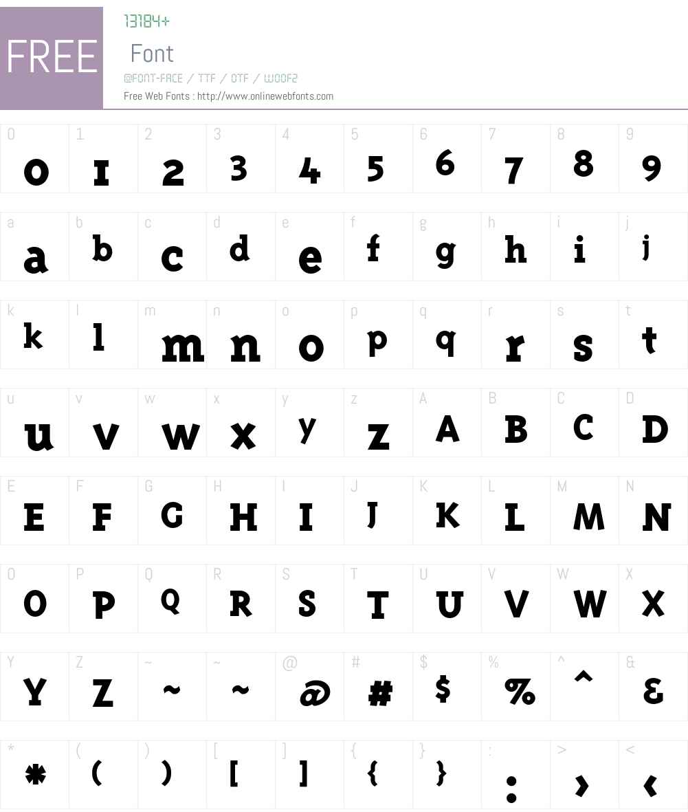 TriplexSerif Font Screenshots