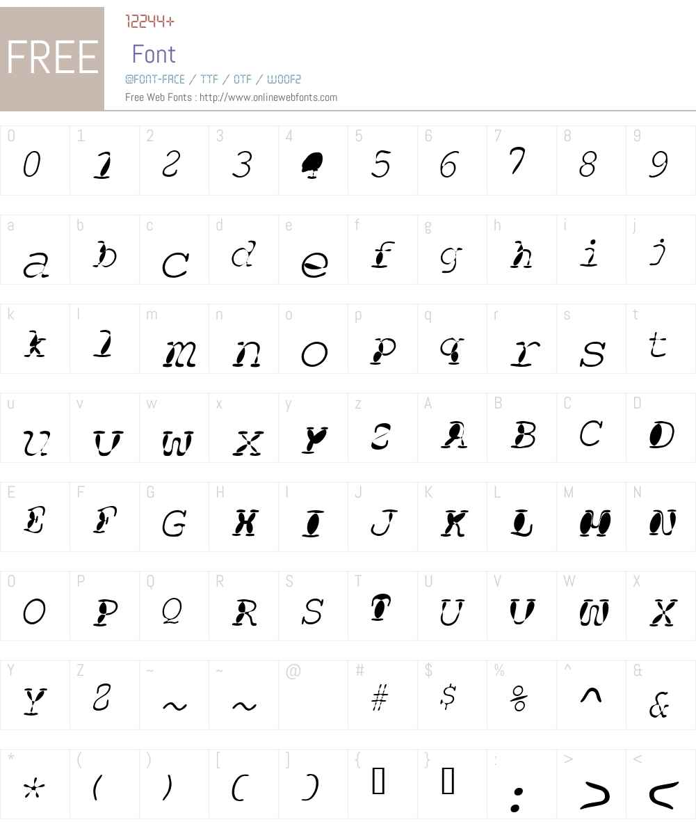 Floopi Font Screenshots