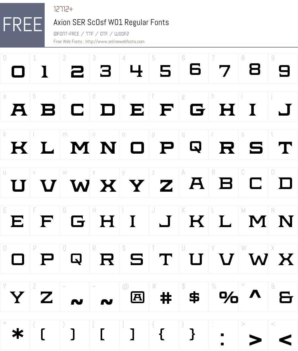 AxionSERScOsfW01-Regular Font Screenshots
