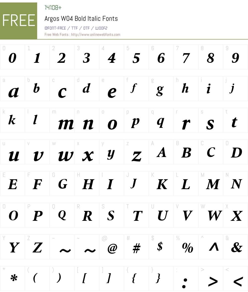 HT Argos Font Screenshots