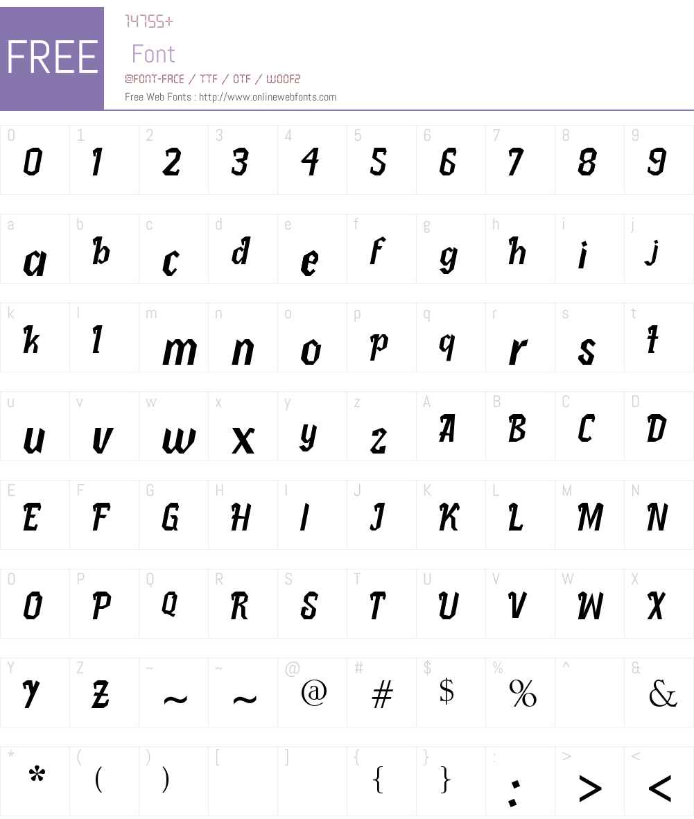 Pletakrutuk Font Screenshots