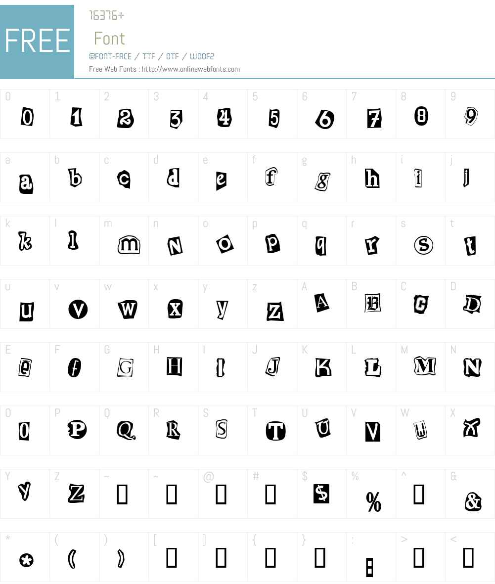 Erpressung Font Screenshots