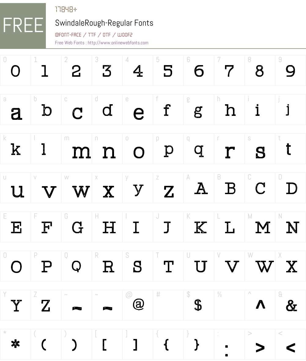 Swindale Rough Regular Font Screenshots