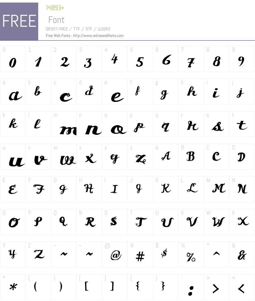 Chunder Font Screenshots