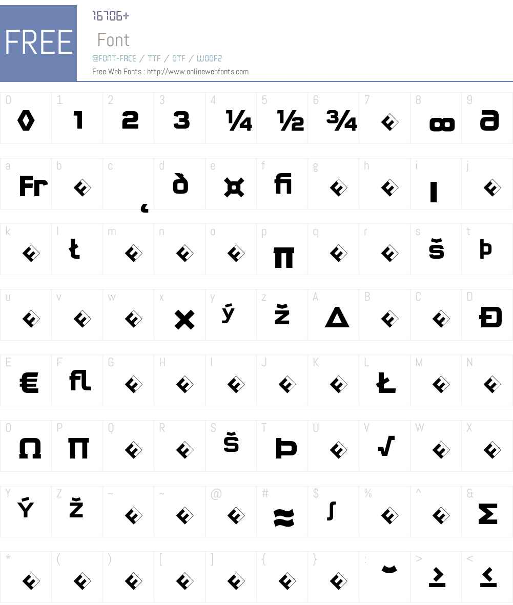 QTypeSquare-BoldExpert Font Screenshots