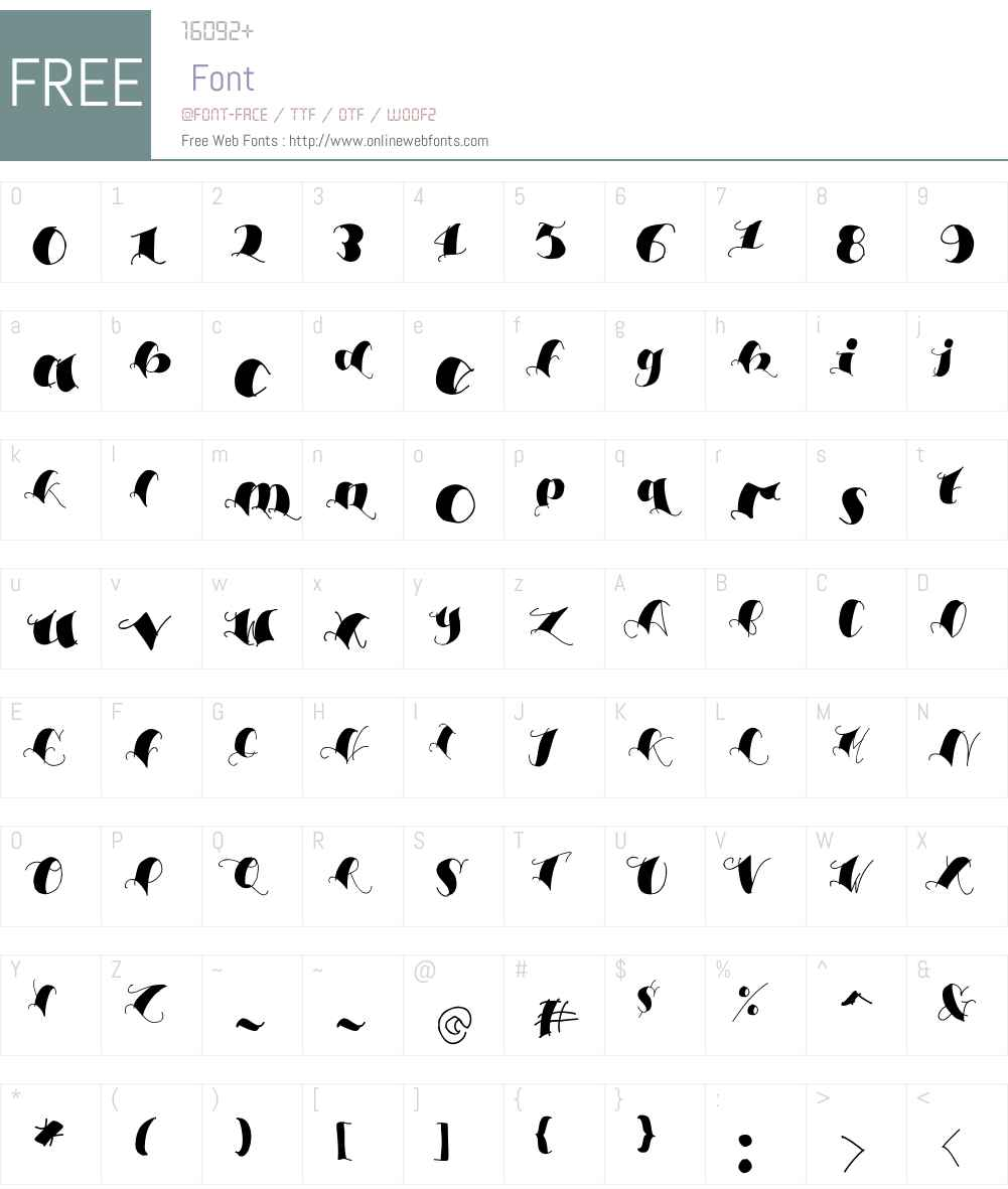 Espesor Olas Filled Font Screenshots