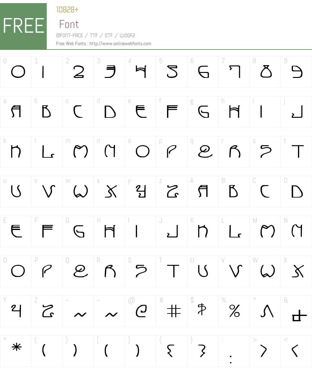 Coyote Deco Expanded Font Screenshots