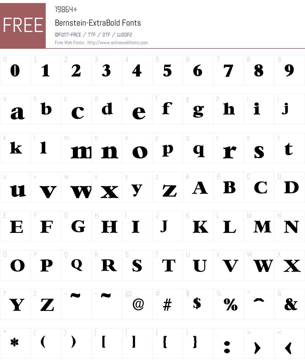 Bernstein-ExtraBold Font Screenshots