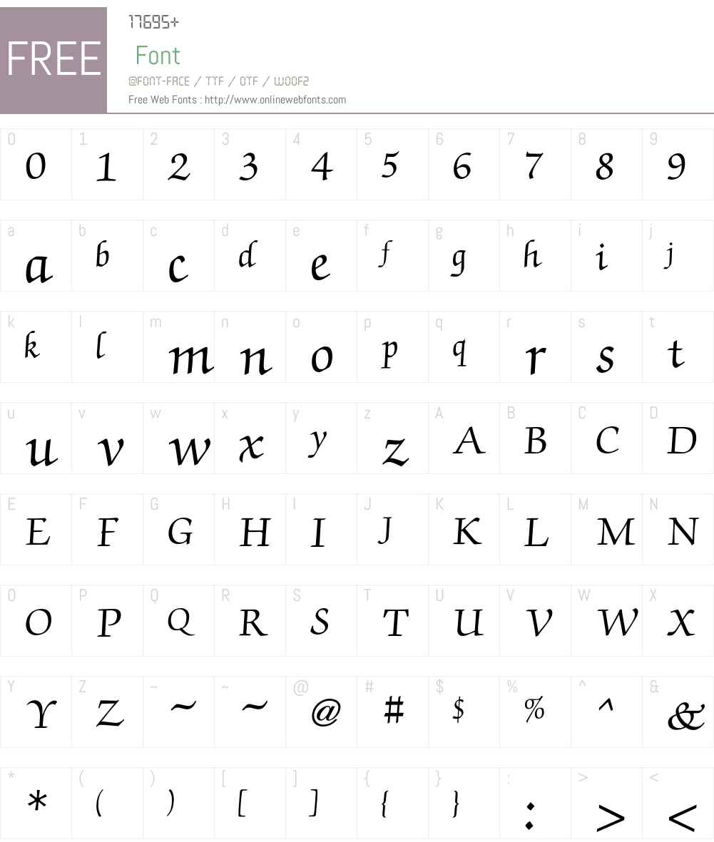 Zapf Font Screenshots
