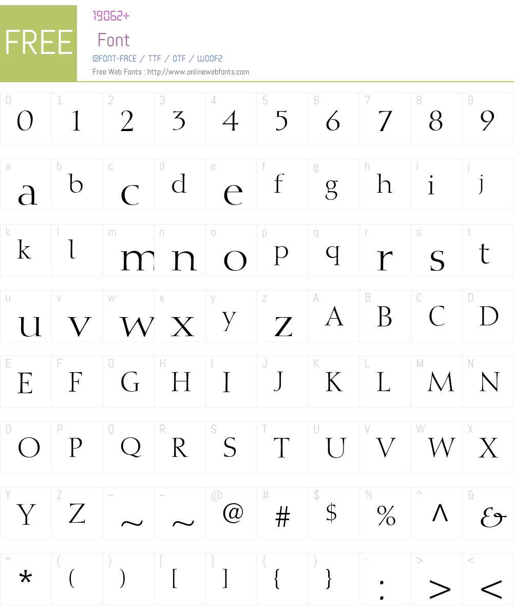 DiotimaLTW01-Roman Font Screenshots