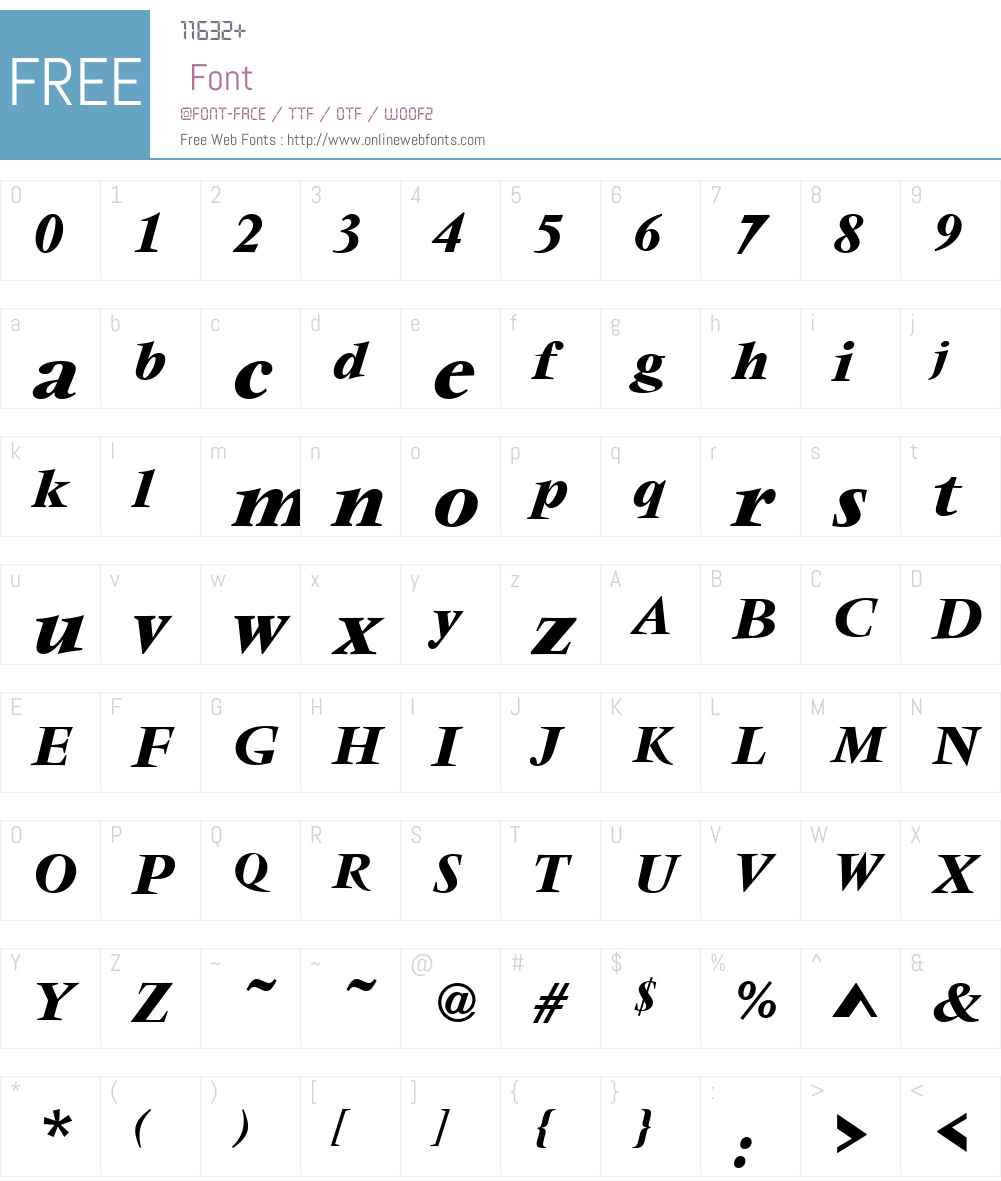 VendomeW01-MediumItalic Font Screenshots