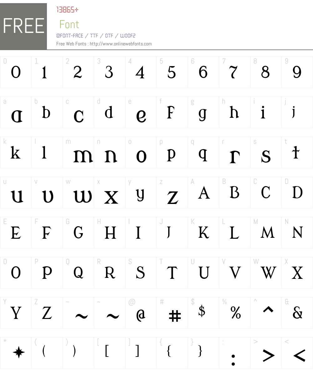Modern Antiqua Font Screenshots