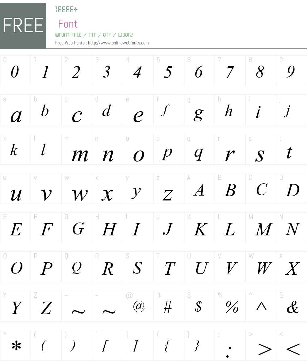 Turn W Font Screenshots