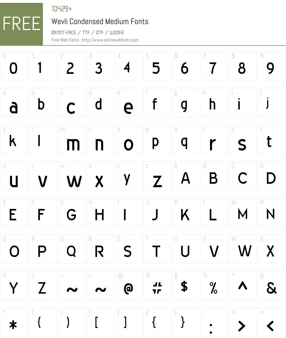 Wevli Condensed Font Screenshots