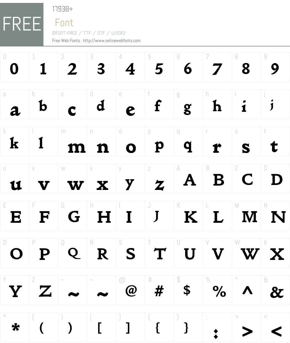 Golden Type ITC Std Font Screenshots