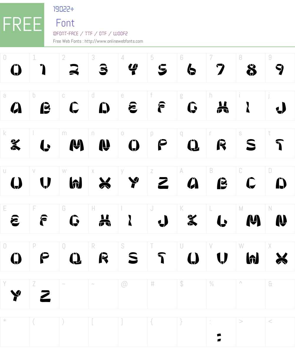 Ribbon Font Screenshots