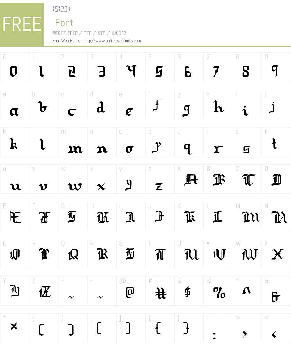 Redcoat Font Screenshots