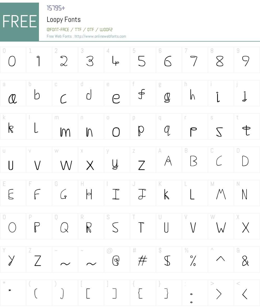 Loopy Font Screenshots