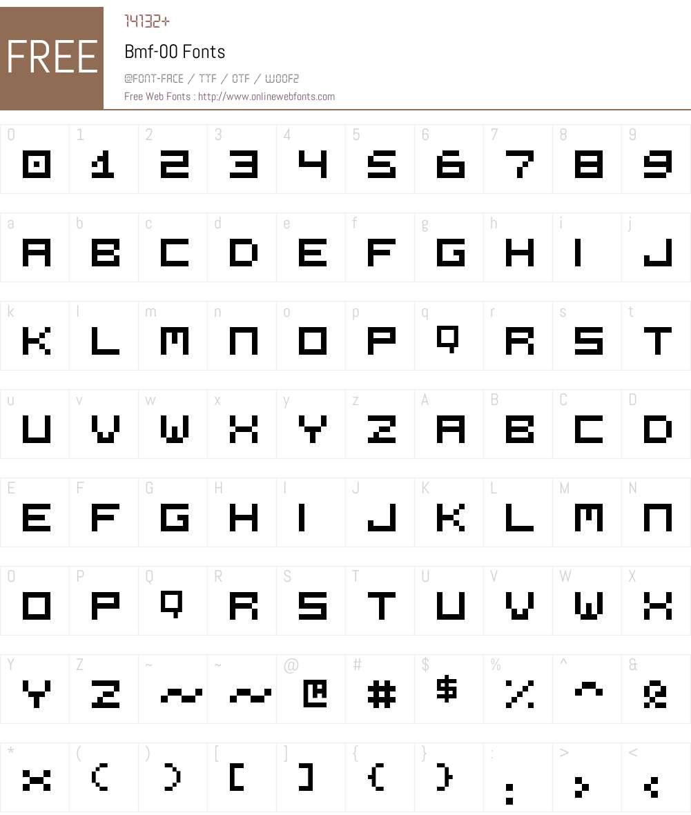 Bmf-00 Font Screenshots