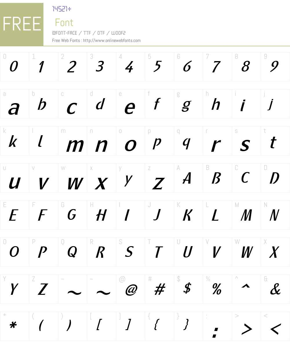 MetamodernaW01-RegItalic Font Screenshots