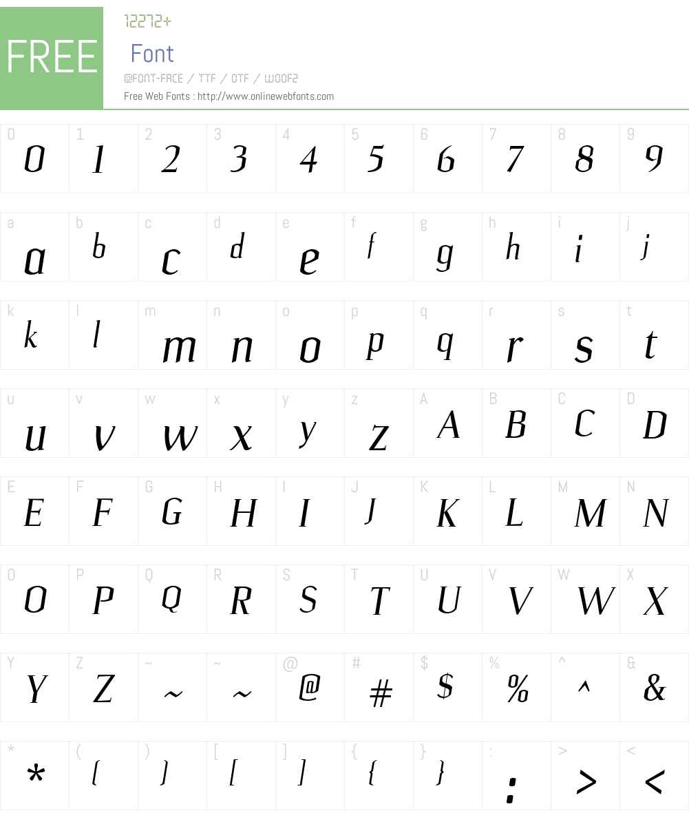 Ulian Font Screenshots