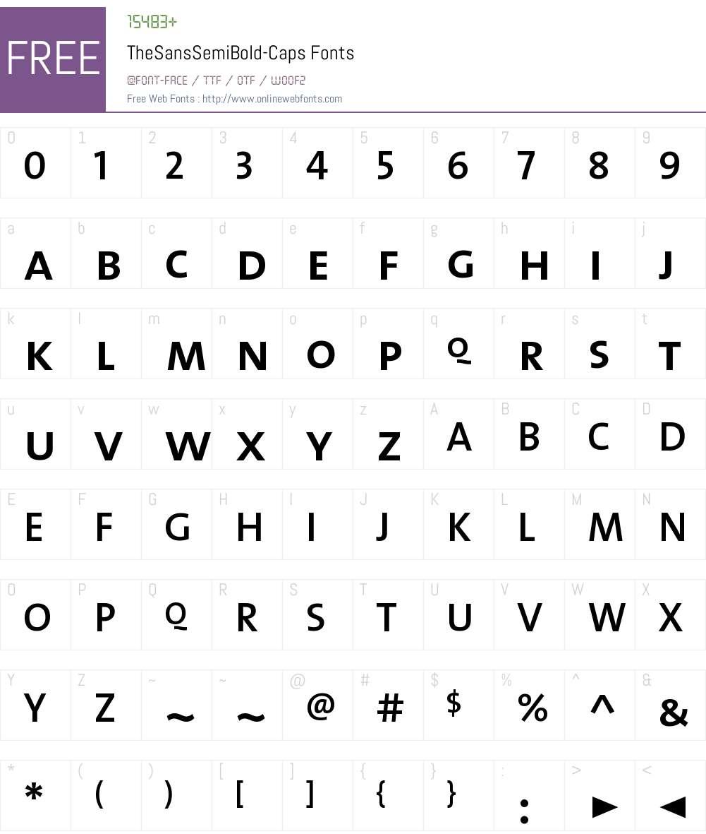 The Sans Semi Bold- Font Screenshots