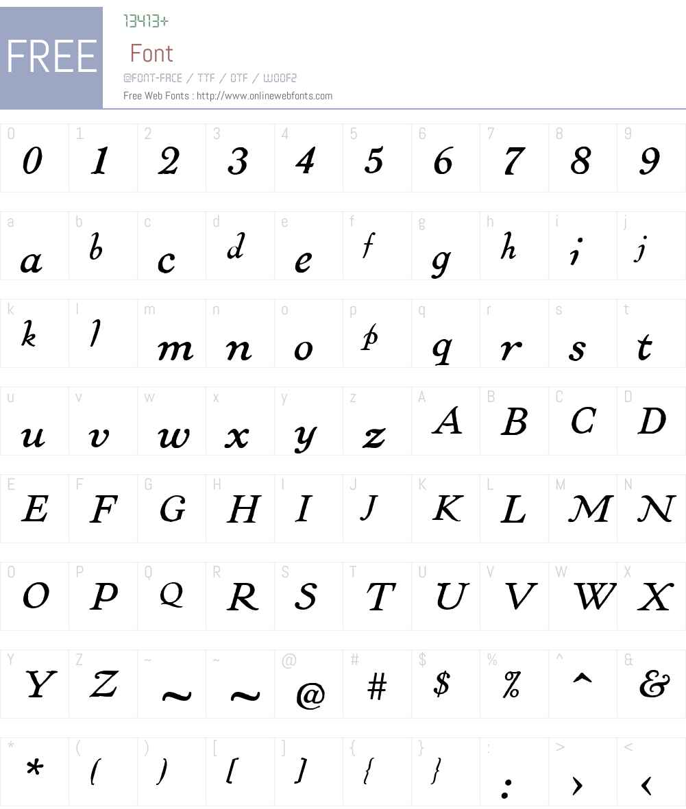 LTCPabstW00-Italic Font Screenshots