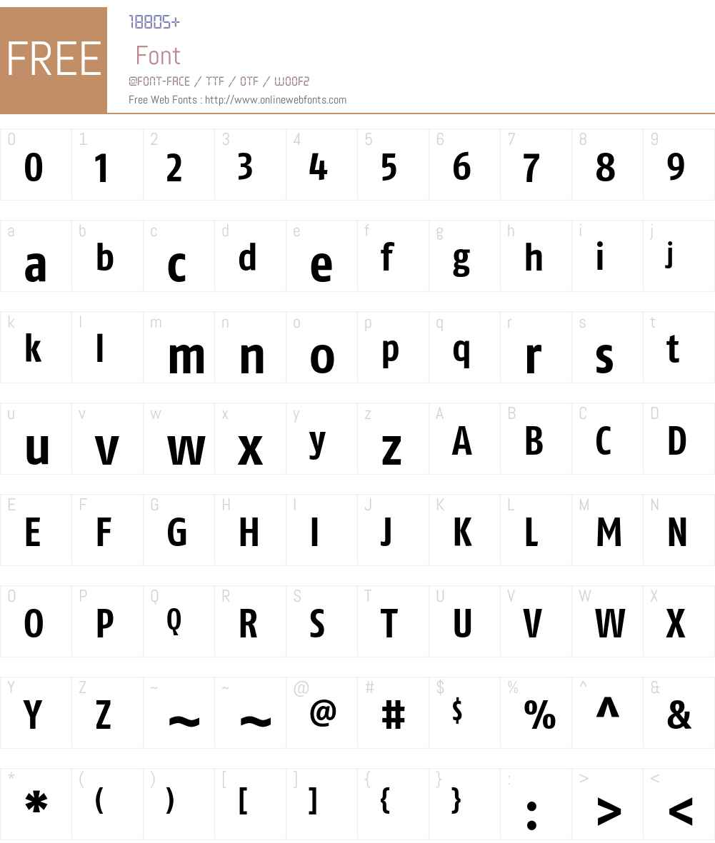 FagoCoLf Font Screenshots