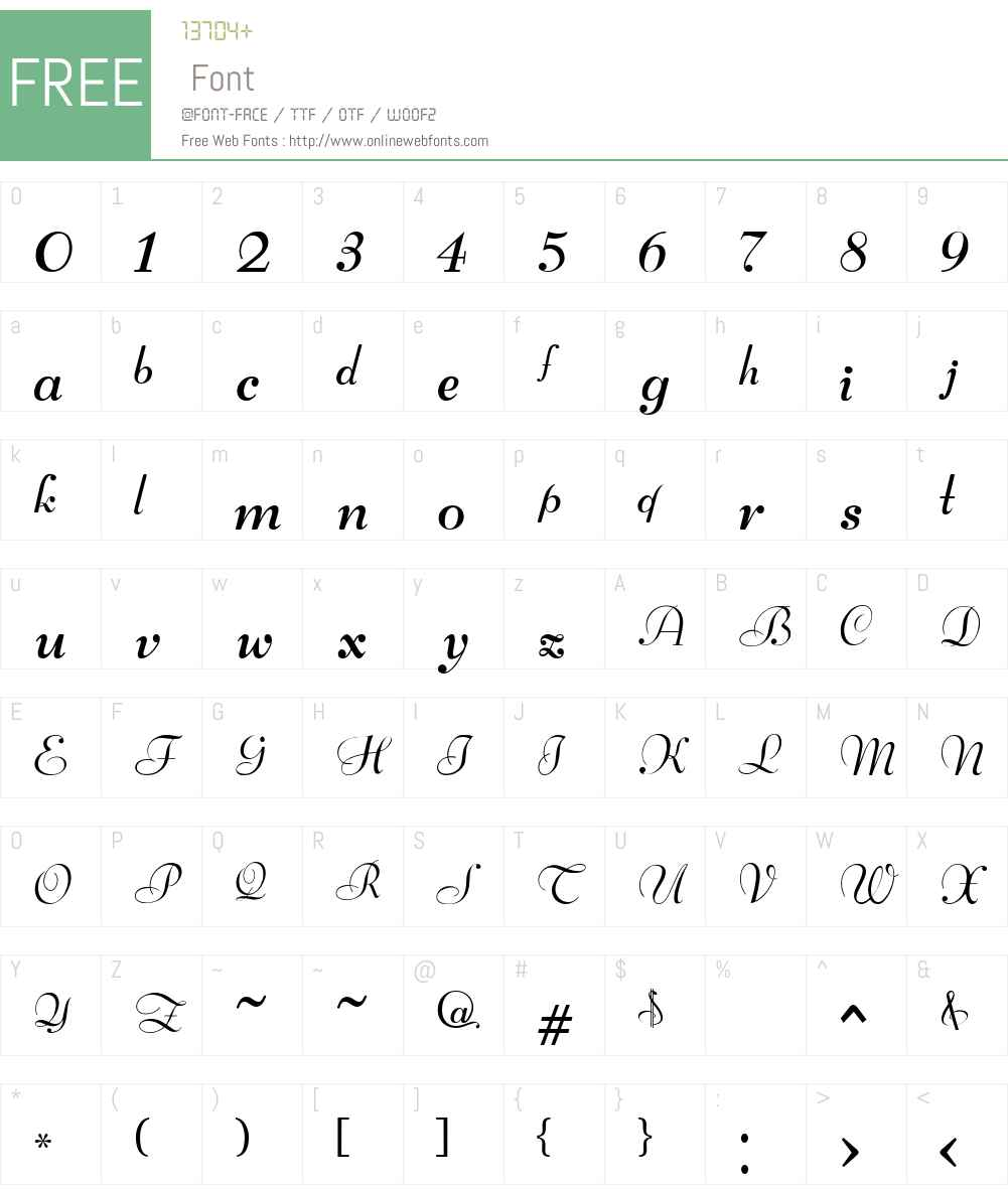 ArriusW00-Regular Font Screenshots