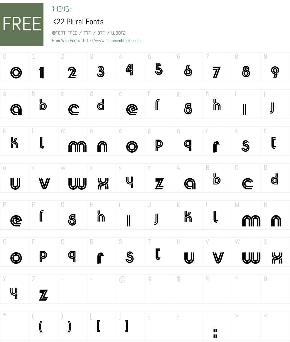 K22 Plural Font Screenshots