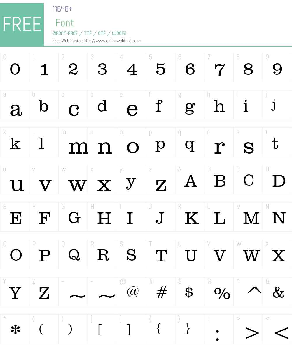 Clarendon Font Screenshots