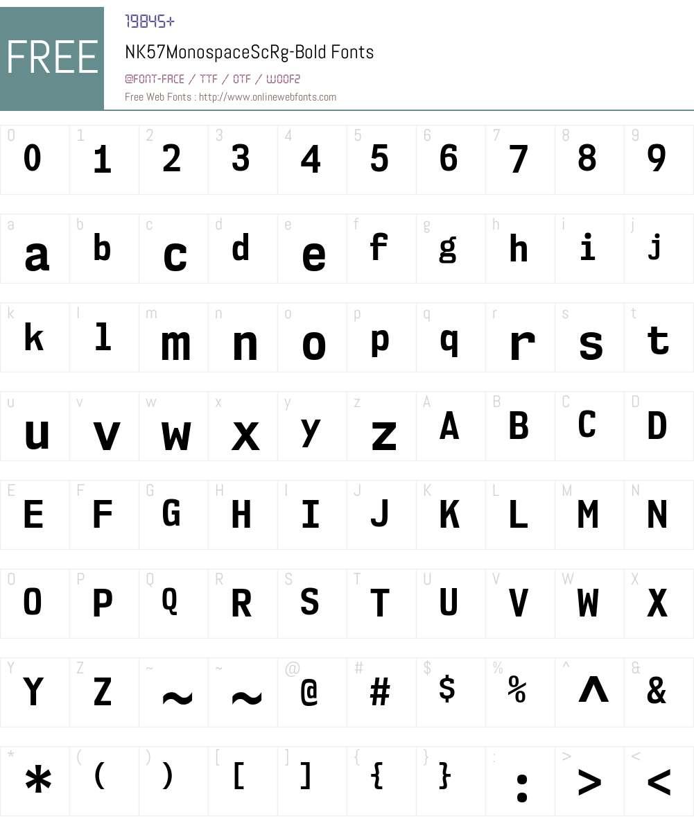 NK57 Monospace Font Screenshots