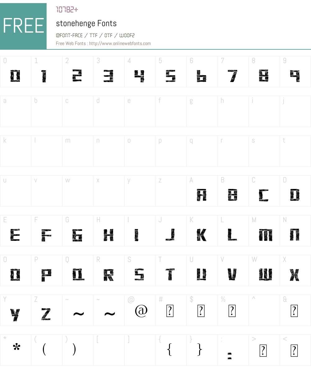 stonehenge Font Screenshots